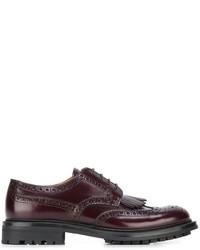 Zapatos Brogue de Cuero Morado Oscuro de Church's