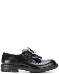 Zapatos Brogue de Cuero Negros de Alexander McQueen