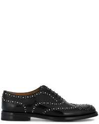 Zapatos Brogue de Cuero Negros de Church's