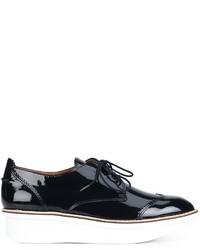Zapatos Brogue de Cuero Negros de Derek Lam 10 Crosby