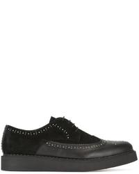 Zapatos Brogue de Cuero Negros de Diesel