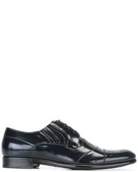 Zapatos brogue de cuero negros de Dolce & Gabbana