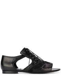 Zapatos brogue de cuero negros de Givenchy