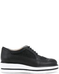 Zapatos Brogue de Cuero Negros de Hogan
