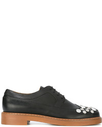 Zapatos brogue de cuero negros de MM6 MAISON MARGIELA