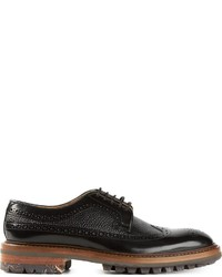 Zapatos Brogue de Cuero Negros de Paul Smith