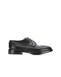 Zapatos brogue de cuero negros de Premiata