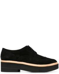 Zapatos brogue de cuero negros de Robert Clergerie