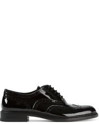 Zapatos brogue de cuero negros de Saint Laurent