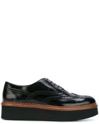 Zapatos brogue de cuero negros de Tod's