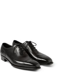 Zapatos brogue de cuero