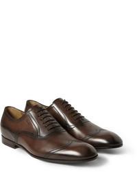 Zapatos brogue en marrón oscuro