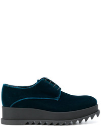 Zapatos con cordones de cuero azul marino de Jil Sander