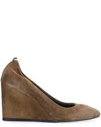 Zapatos con Cuña de Ante Marrónes de Lanvin