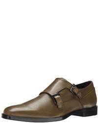 Zapatos con doble hebilla de cuero marrónes de Calvin Klein