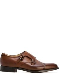 Zapatos con doble hebilla de cuero marrónes de Church's