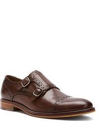Zapatos con doble hebilla de cuero marrónes de Johnston & Murphy