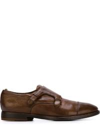 Zapatos con doble hebilla de cuero marrónes de Officine Creative