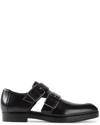 Zapatos con doble hebilla de cuero negros de Alexander Wang