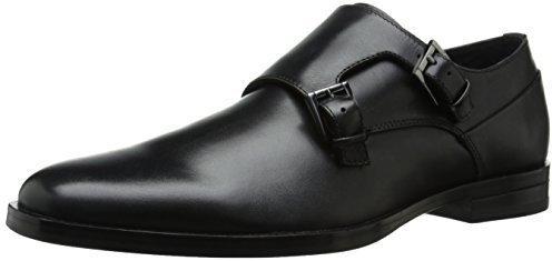 2 de Calvin doble 113 de con cuero KleinMEX negros hebilla Zapatos q5L4Ac3jR