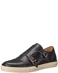 Zapatos con doble hebilla de cuero negros de Frye