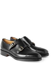 Zapatos con Doble Hebilla de Cuero Negros de John Lobb