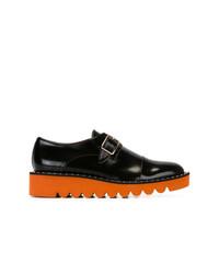Zapatos con doble hebilla de cuero negros de Stella McCartney