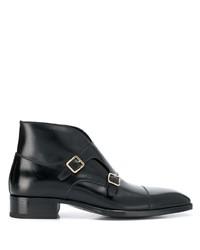 Zapatos con doble hebilla de cuero negros de Tom Ford