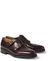 Zapatos con doble hebilla de cuero original 519966