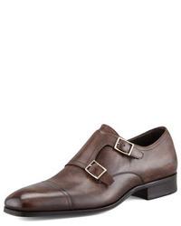 Zapatos con doble hebilla en marron oscuro original 8630990