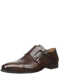 Zapatos con doble hebilla en marrón oscuro de Mezlan