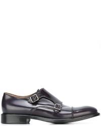 Zapatos con hebilla de cuero azul marino de Paul Smith
