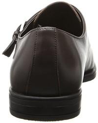 Zapatos con hebilla de cuero en marrón oscuro de Calvin Klein