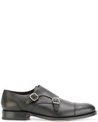 Zapatos con hebilla de cuero en marrón oscuro de DSQUARED2