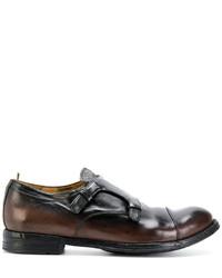 Zapatos con hebilla de cuero en marrón oscuro de Officine Creative