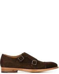 Zapatos con hebilla de cuero en marrón oscuro de Paul Smith