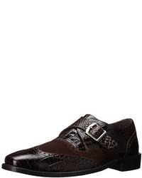 Zapatos con hebilla de cuero en marrón oscuro de Stacy Adams