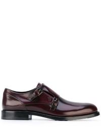 Zapatos con Hebilla de Cuero en Marrón Oscuro de Tod's