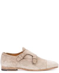 Zapatos con hebilla de cuero grises de Officine Creative