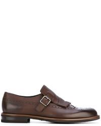 Zapatos con Hebilla de Cuero Marrónes de Ermenegildo Zegna