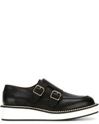 Zapatos con hebilla de cuero negros de Givenchy