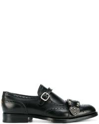 ... Zapatos con hebilla de cuero negros de Gucci 36ce355fb10