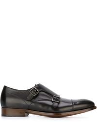 Zapatos con hebilla de cuero negros de Paul Smith