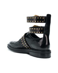 Zapatos con hebilla de cuero negros de Versace