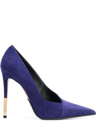 Zapatos de tacón azul marino de Balmain