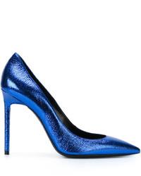 Zapatos de Tacón Azules de Saint Laurent