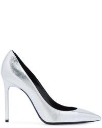 Zapatos de tacón blancos de Saint Laurent