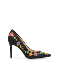 Zapatos de Tacón Bordados Negros de Sam Edelman