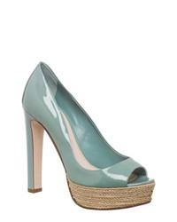 Zapatos de tacón celestes