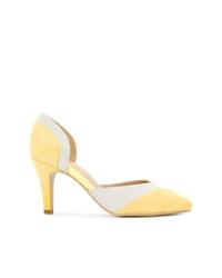 Zapatos de tacón de ante amarillos de GUILD PRIME